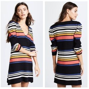 NWT FREE PEOPLE SIZE XS MULTICOLOR SWEATER DRESS🌸